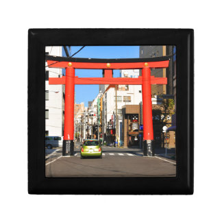 Temple gate in Tokyo, Japan Small Square Gift Box