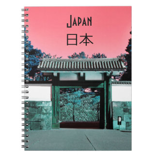 Temple gate in Tokyo, Japan Spiral Notebook