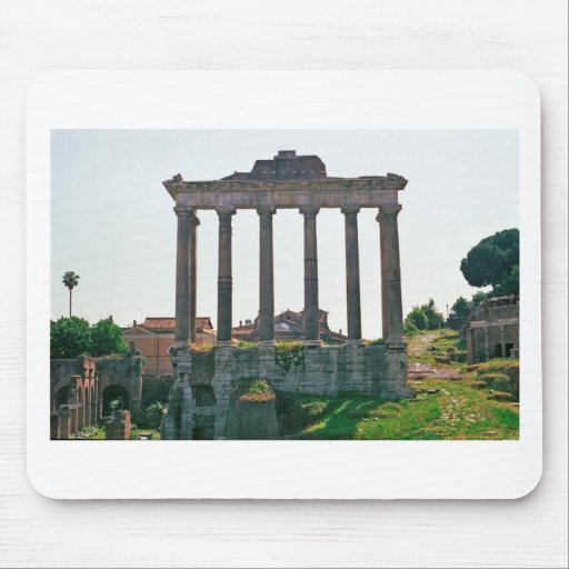 Temple in the Roman Forum Mouse Pad