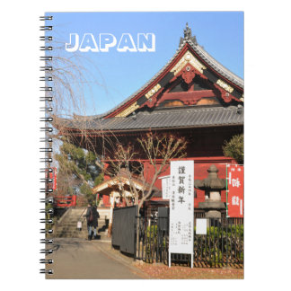Temple in Tokyo, Japan Notebook