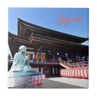 Temple in Tokyo, Japan Tile