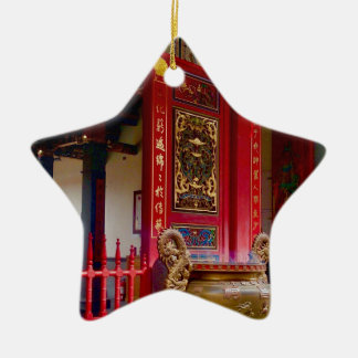 Temple in Yilan, Taiwan Ceramic Ornament