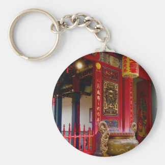Temple in Yilan, Taiwan Key Ring