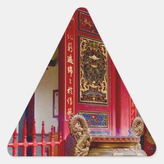 Temple in Yilan, Taiwan Triangle Sticker