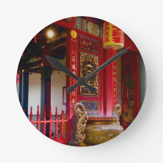 Temple in Yilan, Taiwan Wallclocks