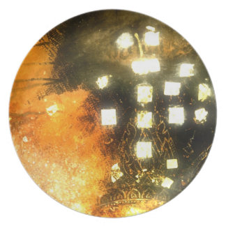 Temple light plate