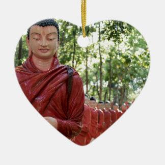 Temple of 500 Arahants, Sri Lanka Ceramic Heart Decoration