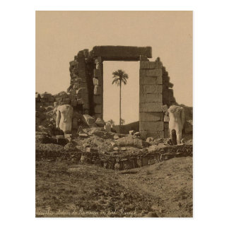 Temple of Amenophis, Egypt circa 1867 Postcard