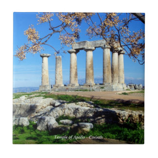 Temple of Apollo – Corinth Small Square Tile