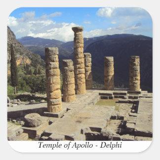 Temple of Apollo – Delphi Square Sticker