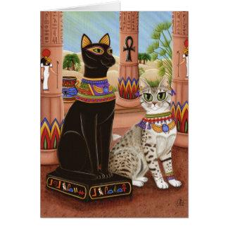 Temple of Bastet Egypt Bast Goddess Cat Art Card