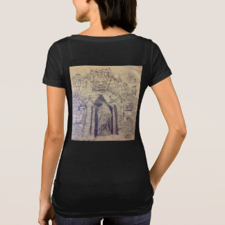 Temple of Bayon Black Scoop Neck Women's T-shirt