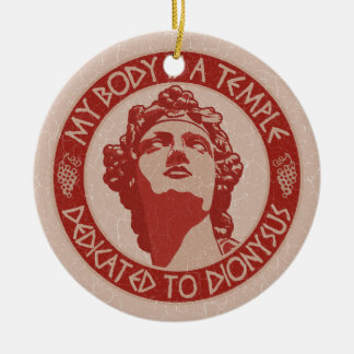 Temple of Dionysus Christmas Ornament