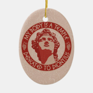 Temple of Dionysus Christmas Tree Ornaments