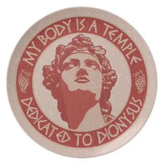 Temple of Dionysus Party Plates