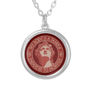Temple of Dionysus Round Pendant Necklace