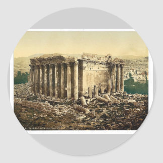 Temple of Jupiter, exterior, Baalbek, Holy Land, ( Round Stickers