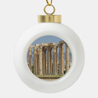 Temple of Olympian Zeus, Athens, Greece Ceramic Ball Decoration