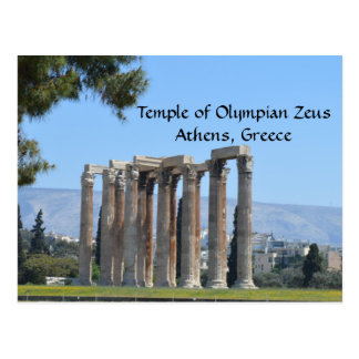 Temple of Olympian Zeus, Athens, Greece Postcard