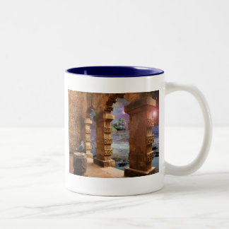 Temple of Poseidon Two-Tone Mug