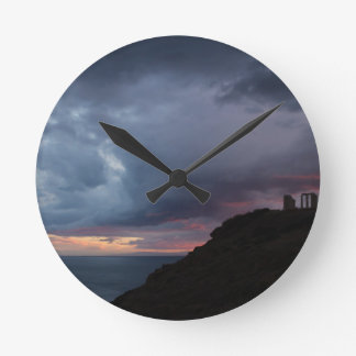 Temple of Poseidon Round Clock