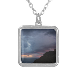 Temple of Poseidon Silver Plated Necklace