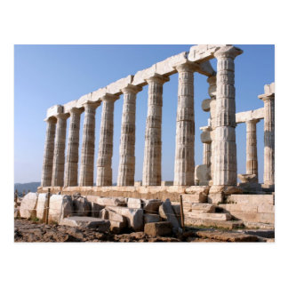 Temple of Poseidon, Sounion, Greece Postcard