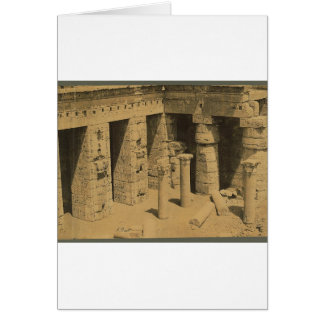 Temple of Ramses III. Egypt circa 1870 Card