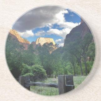 Temple of Sinawava Zion National Park Utah Sandstone Coaster