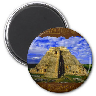 Temple of the Magician Mayan Gift item Magnet