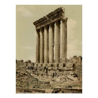 Temple of the Sun, side view, Baalbek, Holy Land Poster