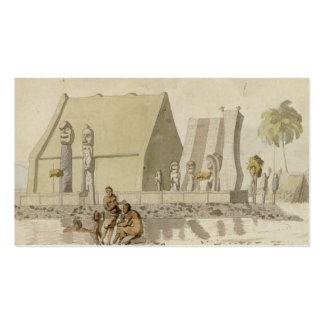 Temple on the Island of Hawaii by Louis Choris Double-Sided Standard Business Cards (Pack Of 100)