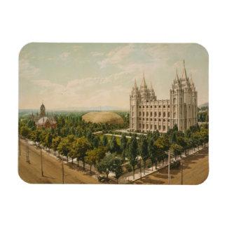 Temple Square Salt Lake City Utah in 1899 Rectangular Photo Magnet