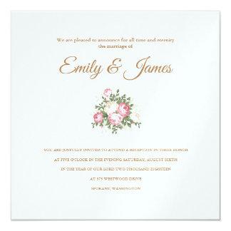 Temple Wedding Reception Card Invitation