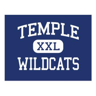 Temple - Wildcats - High School - Temple Texas Postcard