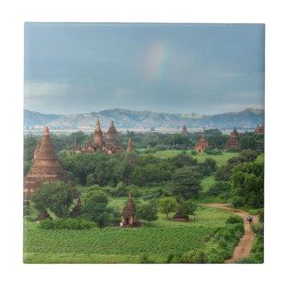 Temples in Bagan, Myanmar Tile