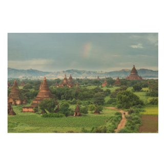 Temples in Bagan, Myanmar Wood Print