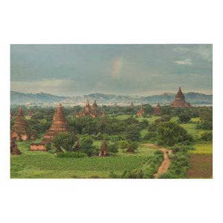 Temples in Bagan, Myanmar Wood Wall Decor