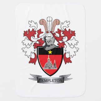 Templeton Family Crest Coat of Arms Baby Blanket
