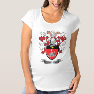 Templeton Family Crest Coat of Arms Maternity T-Shirt