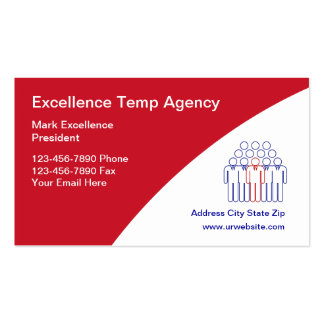 Temporary Employment Agency Business Cards