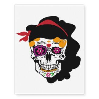 Temporary Tatoo of Mexican skull
