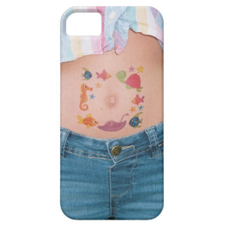 temporary tattoo belly cellphone case