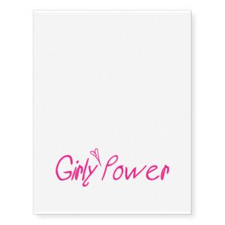 Temporary Tattoos Girly Power