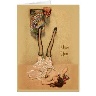 Temptation Greeting Card