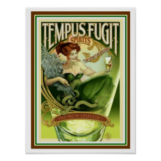 Tempus Fugit Spirits 12 x 16 poster