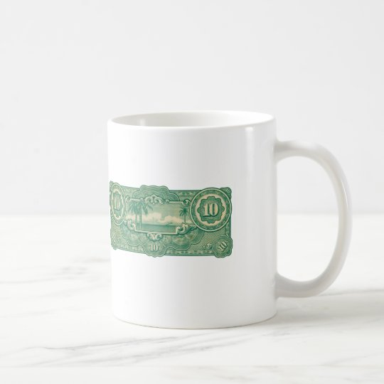 Ten Bucks Play Money Bill Back Coffee Mug