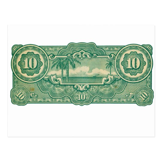 Ten Bucks Play Money Bill Back Postcard