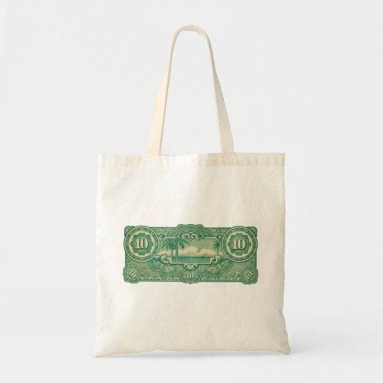 Ten Bucks Play Money Bill Back Tote Bag