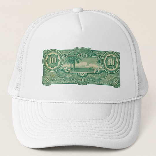 Ten Bucks Play Money Bill Back Trucker Hat